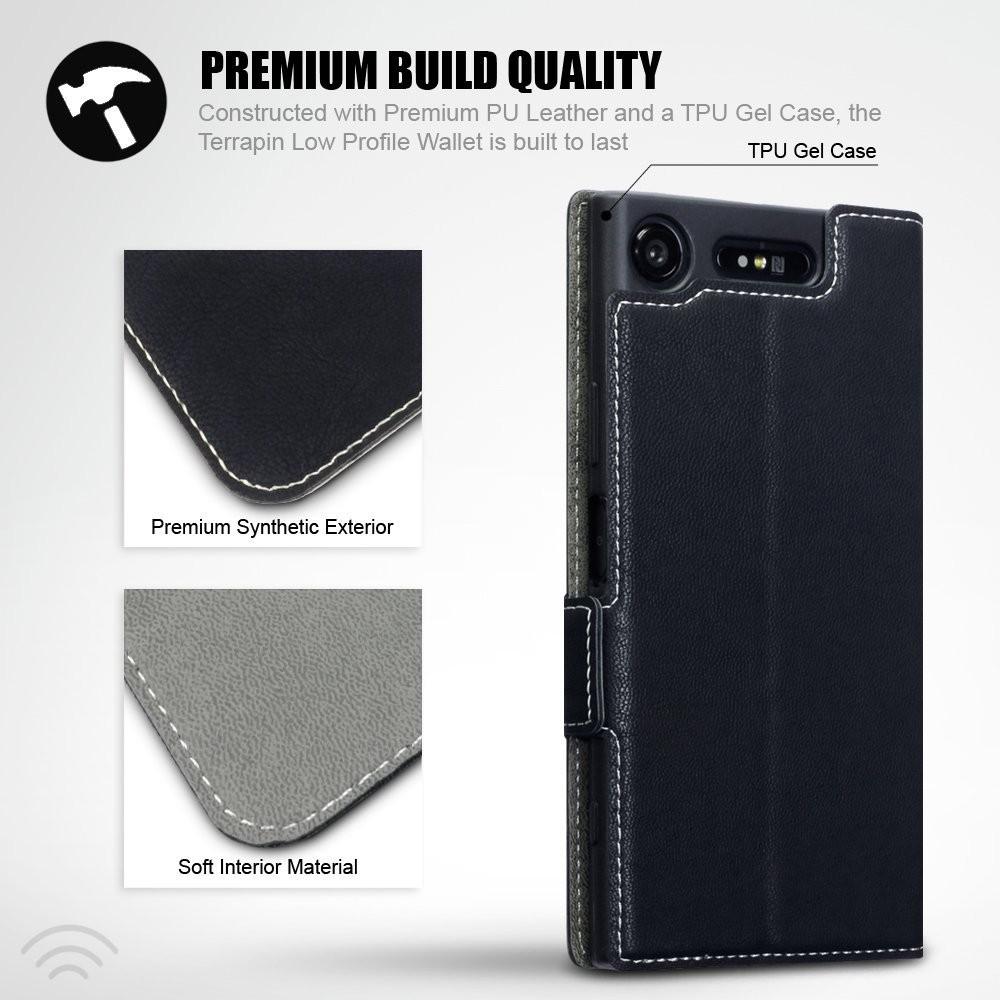 Sony Xperia XZ1 Compact Premium Lommebok Veske med Stativ