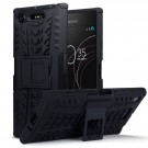 Sony Xperia XZ1 Rugged Armour Deksel - Black thumbnail