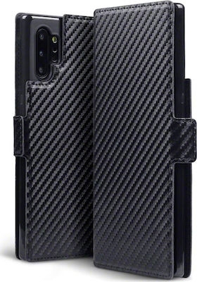 Samsung Galaxy Note 10 Plus - Carbon Fibre Texture Cover - Svart