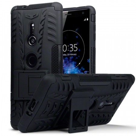Sony Xperia XZ2 Rugged Armour Deksel - Black