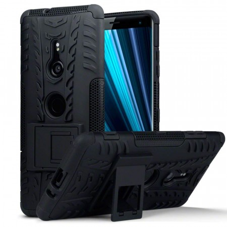Sony Xperia XZ3 Rugged Armour Deksel - Black
