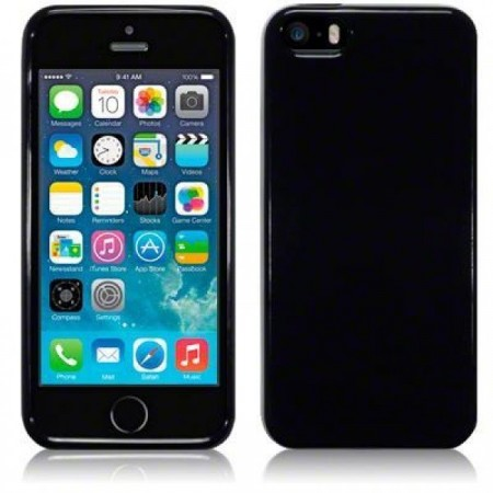 Apple iPhone 5/5s-  Fleksibelt TPU/Silikon Deksel- Solid Black