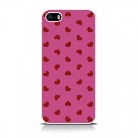 Apple iPhone 5/5s - 2D Print Love Heart Deksel - Rosa