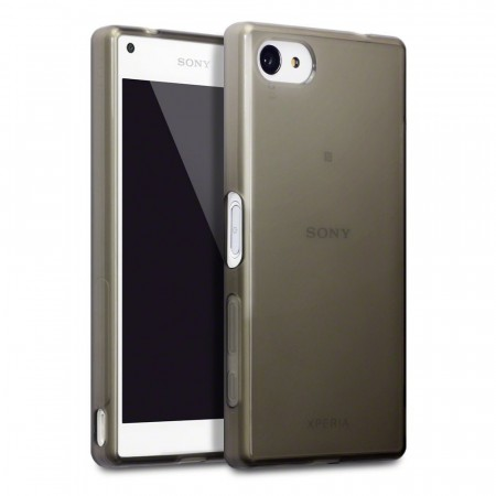 Sony Xperia Z5 Compact- TPU Gel Cover - Smoke Black