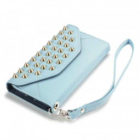 Rock Chic - Studd Design Clutch Etui til Apple iPhone 5/5s- Lyse Blå