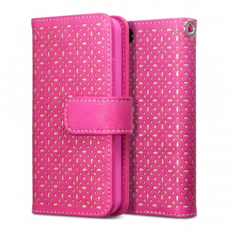 Apple iPhone 5/5s - Etset Lommebok Etui - Rosa